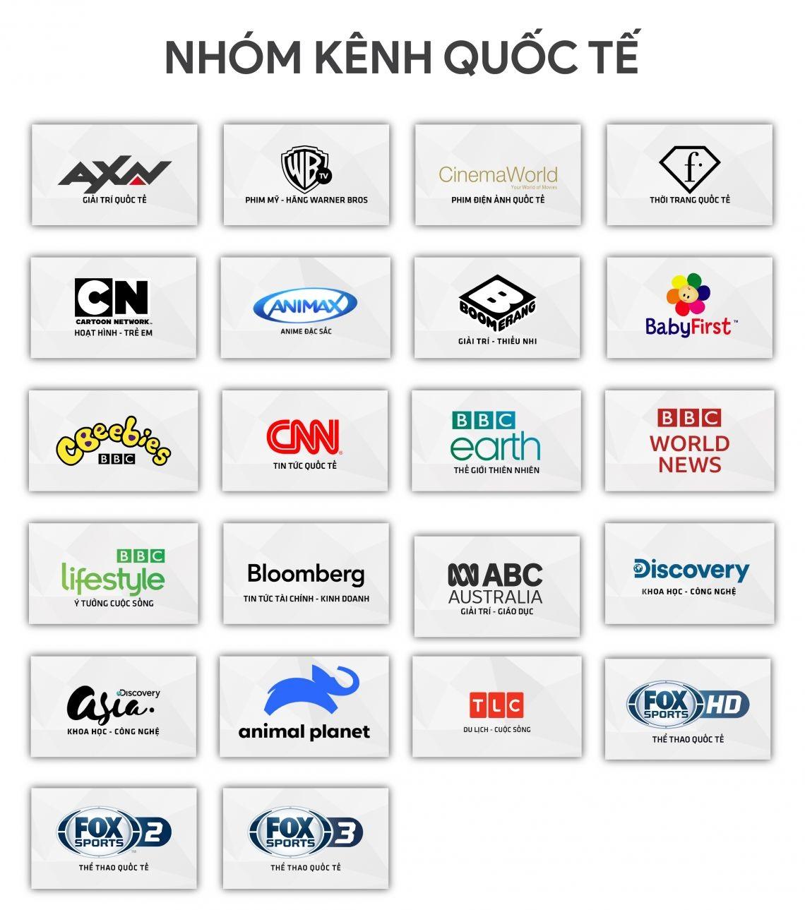 Nhóm kênh truyền hình quốc tế